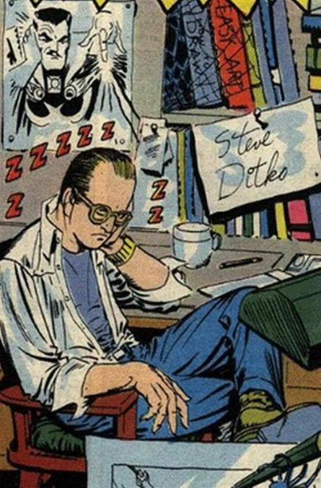 Steve Ditko caricatura