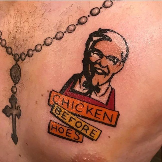 Tatuajes feos KFC