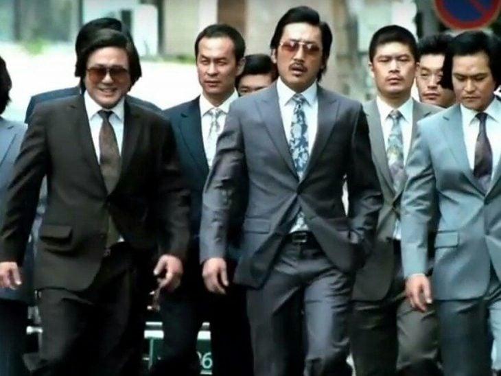 Yakuza caminando