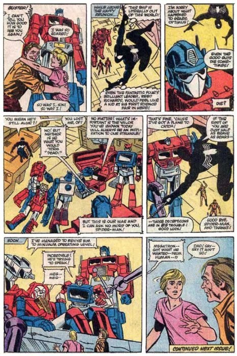 Transformers 3 cómic