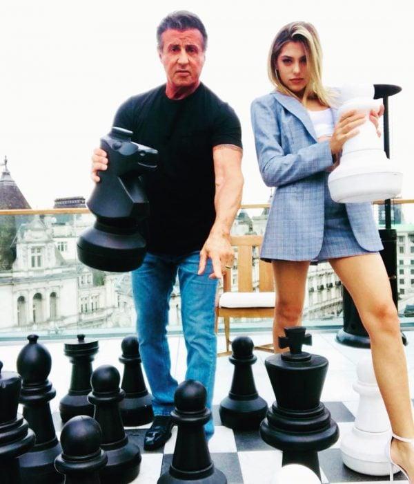 Sylvester Stallone y su hija