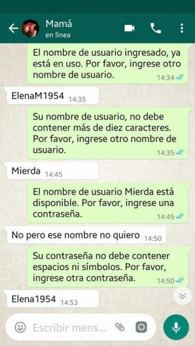 Conversación con su madre