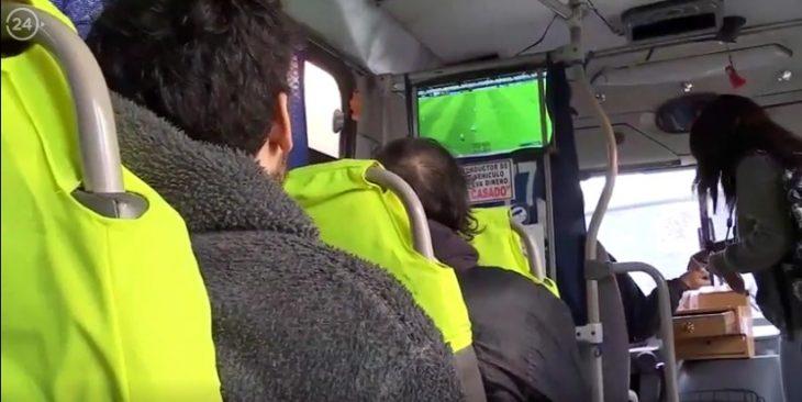 PS en autobús