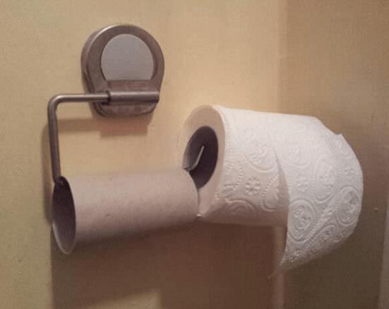 flojera papel baño