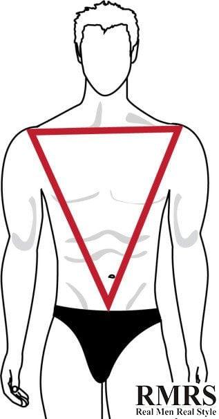 forma de cuerpo triangulo invertido