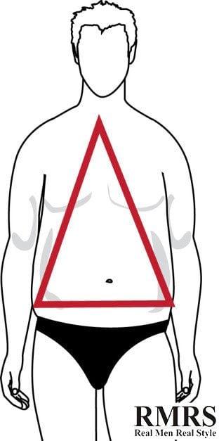 forma de cuerpo triangulo