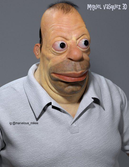 Homero Simpson en 3D