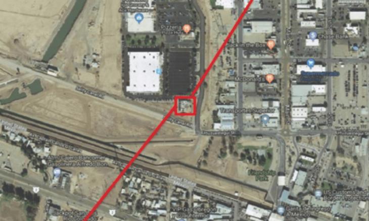 Mapa de túnel en la frontera