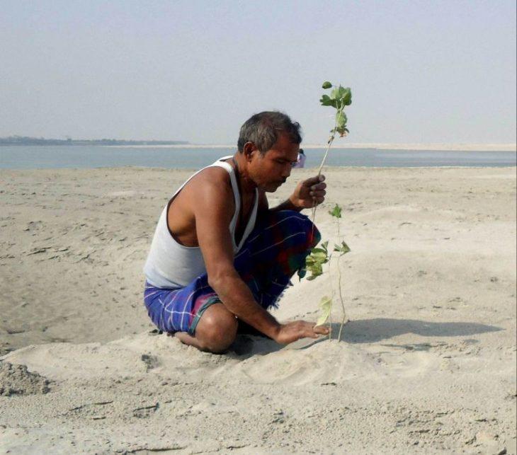Jadav Payeng planta un árbol
