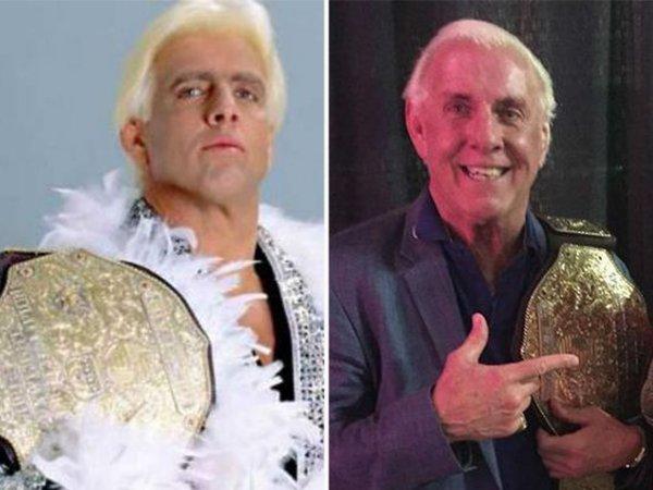 Luchadores antes y después