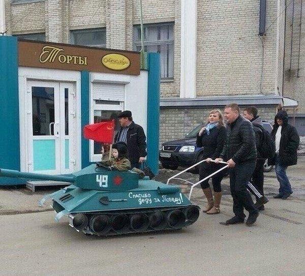 Cosas raras Rusia tanque