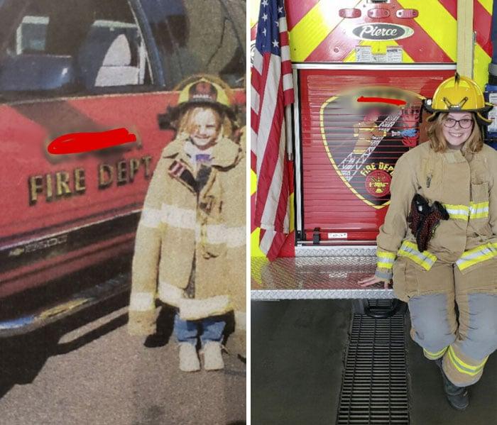 niña bombera