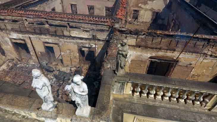 Museo Nacional de Brasil destruido