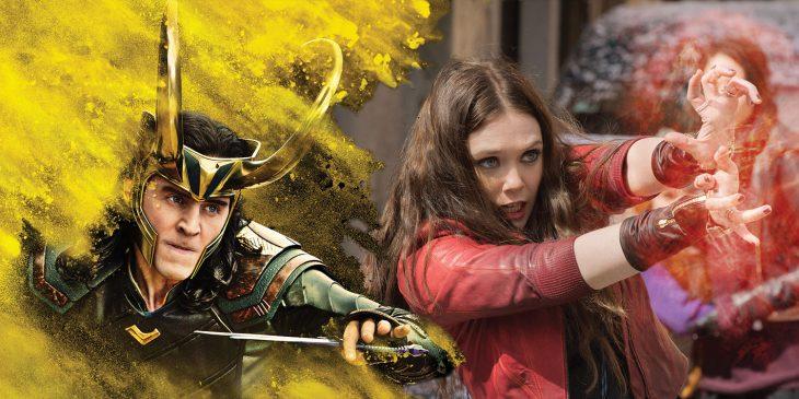 Loki y bruja escarlata