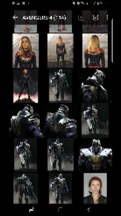 Thanos y Viuda Negra