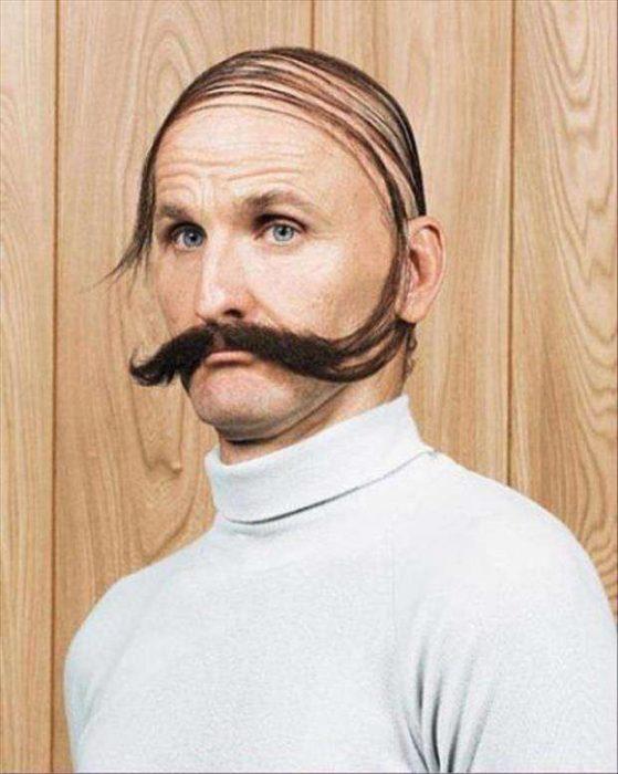 disimula calvicie bigote