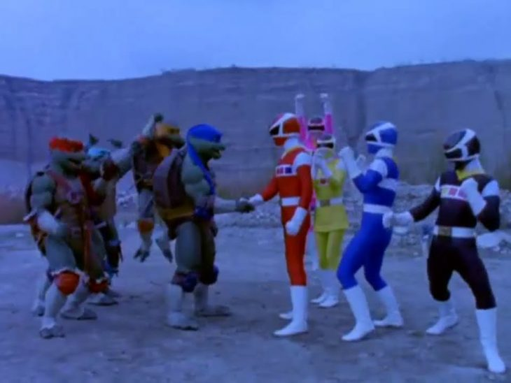Tortugas Ninja y Power Rangers