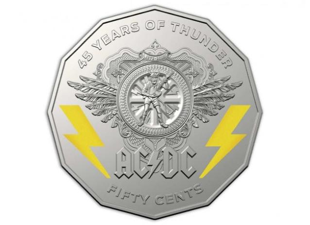 monedas de ac/dc 50 centavos
