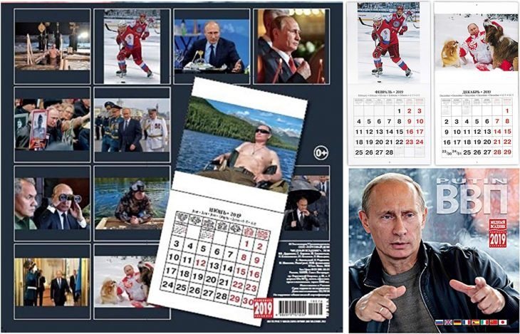 calendario Putin 2019