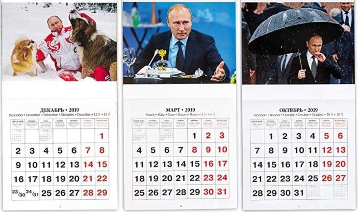 calendario Putin