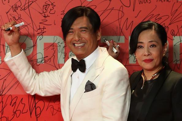 Chow Yun-fat y esposa