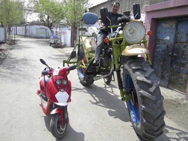 Objetos gigantes motocicleta