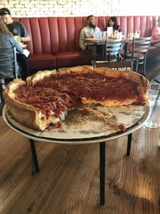 Objetos gigantes pizza