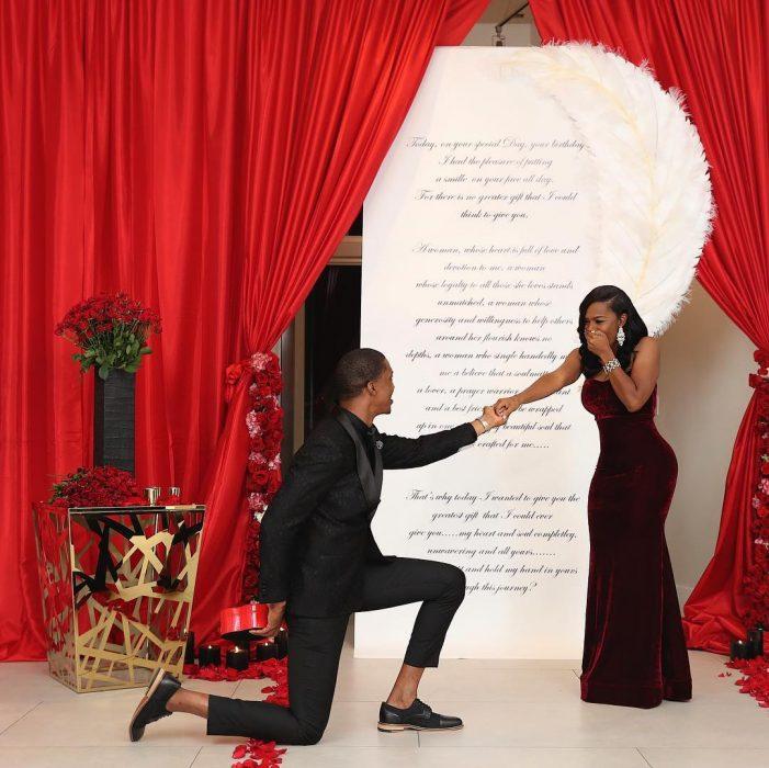 Propuesta de matrimonio con 6 anillos