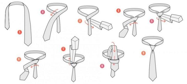 nudo corbata doble