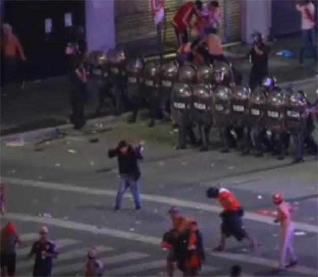 Desmanes por triunfo de River Plate