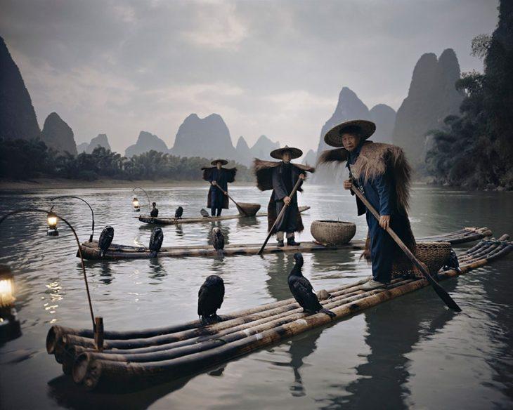 Cormoranes de Yang Shuo, China