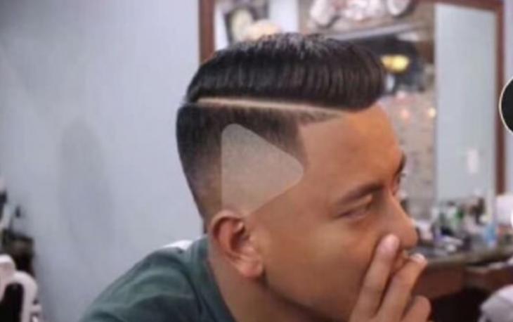 video de corte de cabello