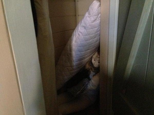 Cosas siniestras en casas viejas armario
