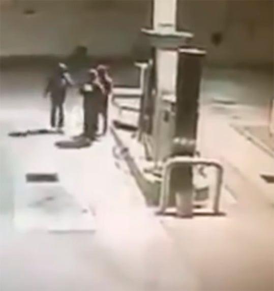 Asalto en gasolinera