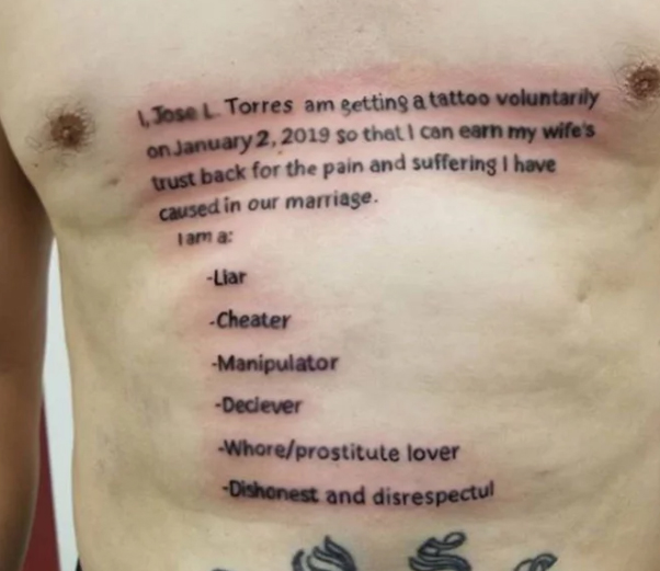 Tatuaje por infiel