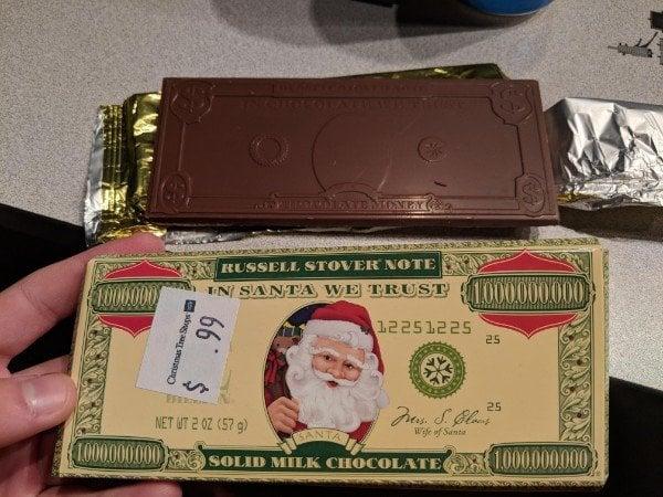 expectativa vs realidad barra chocolate