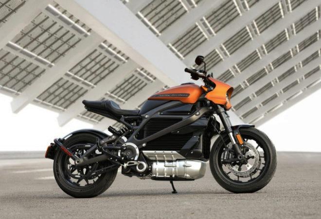 motocicleta eléctirca herley-davidson livewire