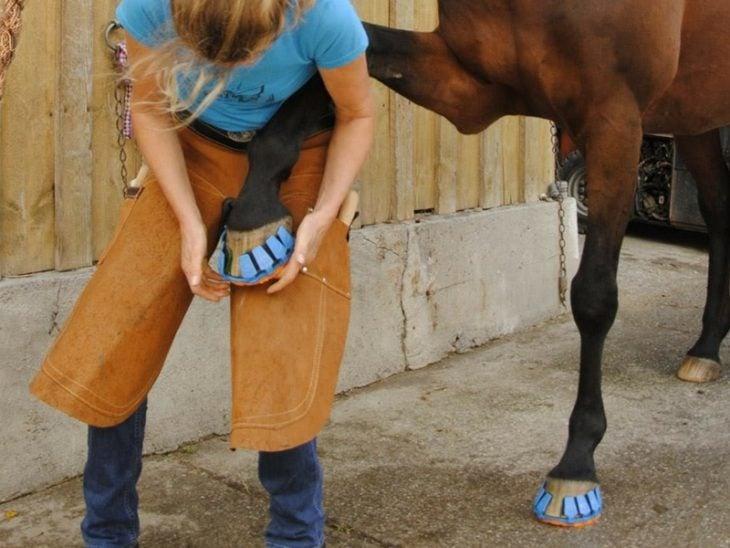 inventos modernos zapatillas caballos