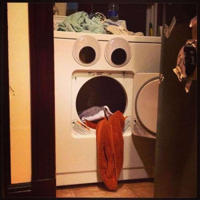 Ojos saltones en cosas lavadora