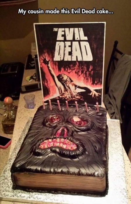 Pasteles impresionantes evil dead