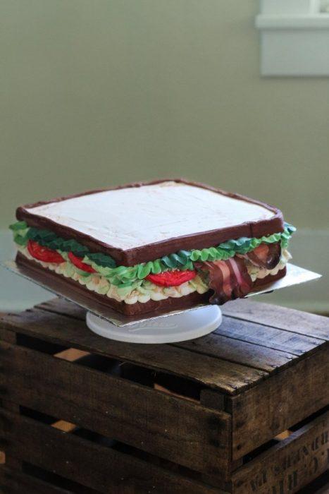 Pasteles impresionantes sandwich