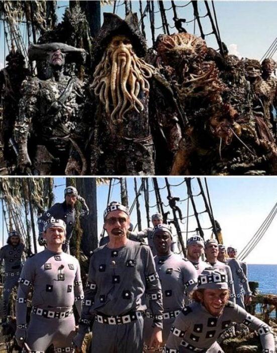 piratas del caribe efectos