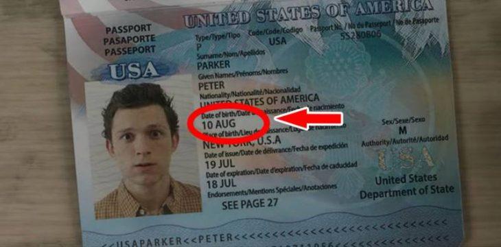 pasaporte peter parker