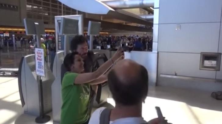 selfie con keanu reeves