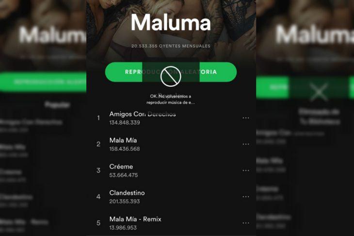 spotify permite bloquear artistas