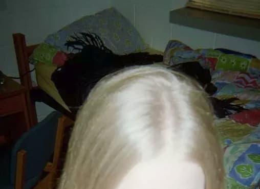 niña cabello foto