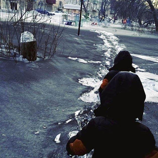 Nieve negra en Siberia