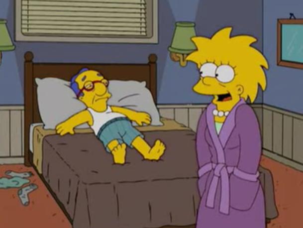 Lisa y Milhouse