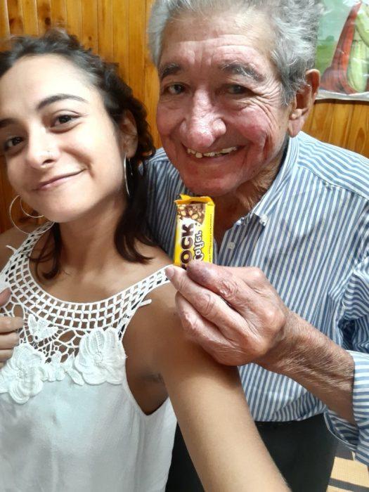 Aldana y su abuelo