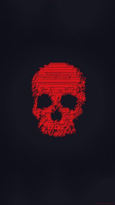 Fondos de pantalla cráneo rojo